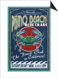 Pismo Beach, California - Blue Crabs Posters by  Lantern Press