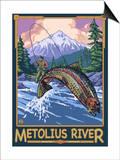 Metolius River Fisherman, Oregon Prints by  Lantern Press