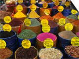 Teas and Spices at Spice Bazaar, Istanbul, Turkey Art by Greg Elms
