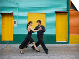 Pair of Tango Dancers Performing on Streets of La Boca Art by Brent Winebrenner