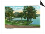 Orlando, Florida - Lake Lucerne Circle Scene Posters by  Lantern Press