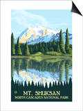 Mount Shuksan - North Cascades National Park, WA Art by  Lantern Press