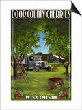 Door County, Wisconsin - Cherry Harvest Art by  Lantern Press