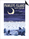 Pawleys Island, South Carolina - Baby Sea Turtles Prints by  Lantern Press