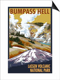 Bumpass Hell - Lassen Volcanic National Park, CA Prints by  Lantern Press