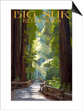 Big Sur, California - Pathway and Hikers Prints by  Lantern Press