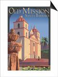Old Mission - Santa Barbara, California Posters