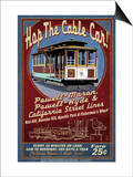 San Francisco, California - Cable Car Prints by  Lantern Press