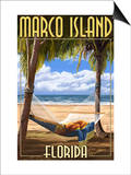 Marco Island, Florida - Hammock Scene Posters by  Lantern Press