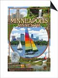 Minneapolis, Minnesota - City Scenes Prints by  Lantern Press