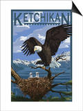 Bald Eagle & Chicks - Ketchikan, Alaska Prints by  Lantern Press