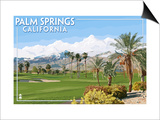 Palm Springs, California - Golf Course Scene Prints by  Lantern Press