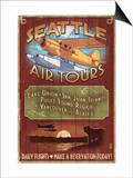 Seattle, Washington - Air Tours Posters by  Lantern Press