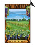 The Finger Lakes, New York - Vineyard Scene Posters by  Lantern Press