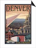 Denver, Colorado - Skyline View Posters