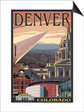 Denver, Colorado - Skyline View Posters by  Lantern Press