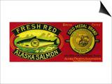 Gold Medal Salmon Can Label - Kodiak Island, AK Prints by  Lantern Press