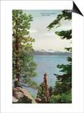 Lake Tahoe, California - Freels Peak View from Lake Poster by  Lantern Press