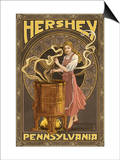 Woman Making Chocolate - Hershey, Pennsylvania Poster by  Lantern Press