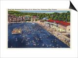 Charleston, West Virginia - Rock Lake Swimming Pool View Prints