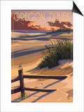 Oregon Dunes on the Oregon Coast Poster by  Lantern Press