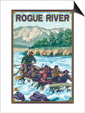 White Water Rafting, Rogue River, Oregon Prints by  Lantern Press