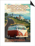 Redondo Beach, California - VW Van Cruise Posters by  Lantern Press