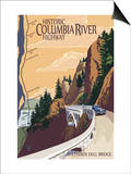 Columbia River Gorge, Oregon - Historic Columbia River Highway Posters by  Lantern Press