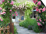 Cafe Les Nymphias in Giverny, Opposite the Entrance to Monet's Gardens Posters by Barbara Van Zanten