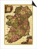 Ireland - Panoramic Map Art