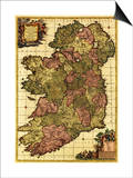 Ireland - Panoramic Map Art by  Lantern Press