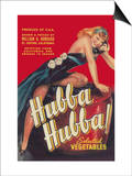 Hubba Hubba - Vegetable Crate Label Print by  Lantern Press