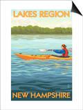 Lakes Region, New Hampshire - Kayak Scene Posters by  Lantern Press