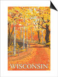 Fall Colors Scene - Wisconsin Prints by  Lantern Press