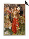 Guinevere and Her Ladies-In- Waiting in the Golden Days Art by Eleanor Fortescue Brickdale