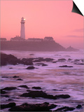 Sunrise Over Pigeon Point Lighthouse of San Mateo County, San Francisco, California, USA Print by Stephen Saks