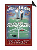 Lakeside, Ohio - Shuffleboard Tournament Art by  Lantern Press