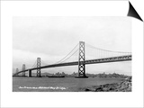 San Francisco, California - Panoramic View of Bay Bridge Posters by  Lantern Press