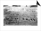 Hollywood, California - Sidewalk of Stars by Chinese Theatre Prints by  Lantern Press