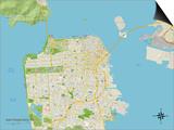 Political Map of San Francisco, CA Poster