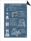 Apollo Missions - Blueprint Poster Prints