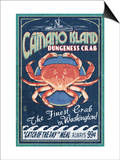 Camano Island, Washington - Dungeness Crab Prints by  Lantern Press