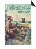 Lake Koshkonong, Wisconsin - Camping Scene Prints by  Lantern Press