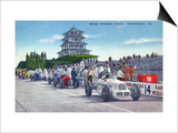 Indianapolis, Indiana - Motor Speedway Pagoda from Racetrack Posters by  Lantern Press