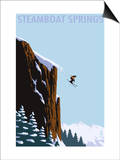 Skier Jumping - Steamboat Springs, Colorado Art by  Lantern Press