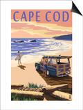 Cape Cod, Massachusetts - Woody on Beach Poster by  Lantern Press