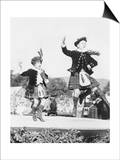 Two Scottish Children in Kilts Dancing Photograph - Scotland Prints by  Lantern Press