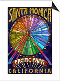 Santa Monica, California - Ferris Wheel Poster by  Lantern Press