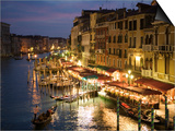 Grand Canal at Dusk, Seen from Rialto Bridge Prints by Holger Leue