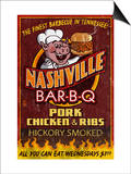 Nashville, Tennessee - Barbecue Art by  Lantern Press